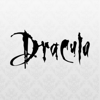 Vinyl Decal - Dracula Logo Black