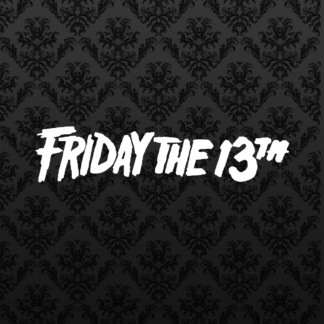 Vinyl Decal - Friday the 13th White