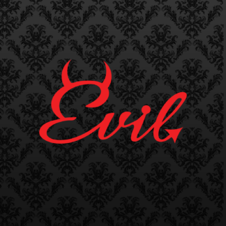 Vinyl Decal - Evil Red