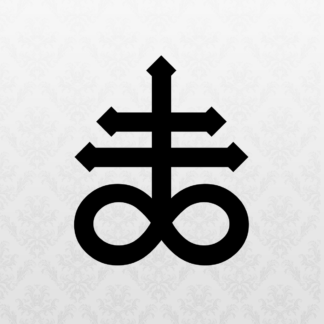 Vinyl Decal - Laveyan Cross Black