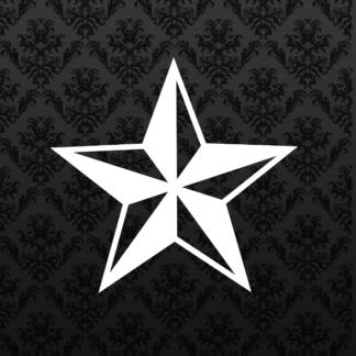 Vinyl Decal - Nautical Star White