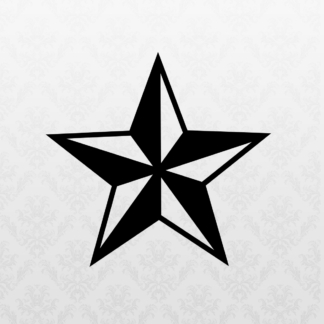 Vinyl Decal - Nautical Star Black