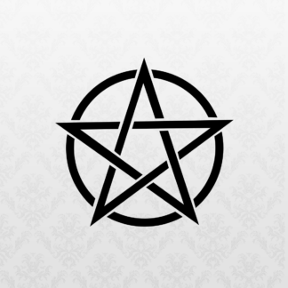 Vinyl Decal - Pentagram Black