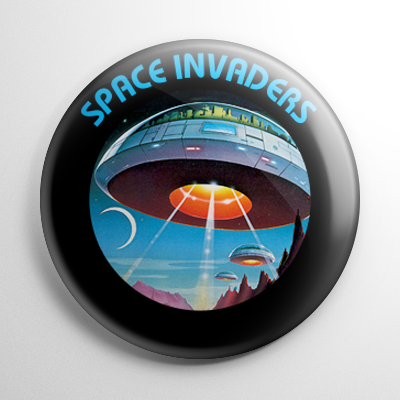 Video Games - Space Invaders Cartridge Button