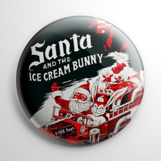 Fantasy - Santa and the Ice Cream Bunny Button