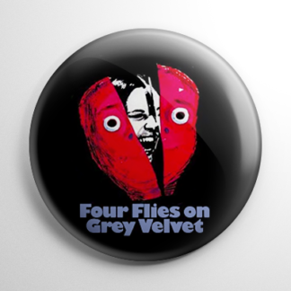 Horror - Four Flies on Grey Velvet Button